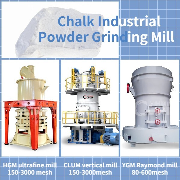 Chalk industrial powder mill